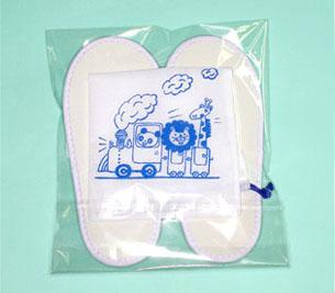 使い捨てスリッパ子供用刺繍タイプ